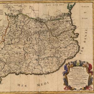 Assassinen l'últim representant de Felip IV a Catalunya. Mapa de Catalunya (1677). Font Cartoteca de Catalunya