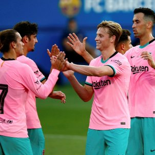 De Jong Griezmann Busquets Trincao Barça Girona EFE