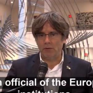 Carles Puigdemont Parlament europeu