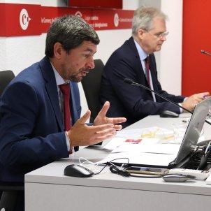 Pla mitjà del president de la Cambra de Comerç de Barcelona, Joan Canadell, en una roda de premsa. Foto: ACN