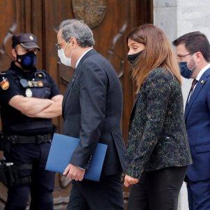 Quim Torra, Meritxell Budó, Pere Aragonès EFE