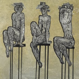 Estudi dames vasques Acrílic sobre tela 2007 Jesús de Vilallonga/Fundació Vila Casas