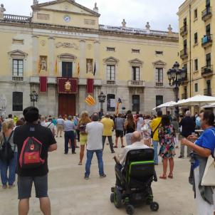 Protesta inhabilitació Torra CDR Tarragona