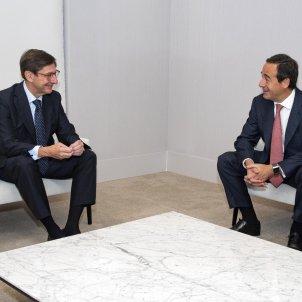 President executiu de la nova entitat, José Ignacio Goirigolzarri, i el conseller delegat de la nova entitat, Gonzalo Gortázar. Foto: CaixaBank