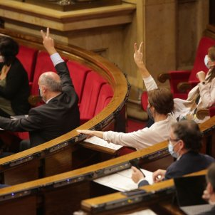 Anna Caula Eduard Pujol votació debat política general Parlament - Sergi Alcàzar