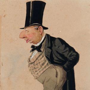 Joan Guell. Caricatura de Josep Parera. Museu Marés.