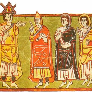 El rei i les oligarquies visigòtiques. Font Enciclopedia