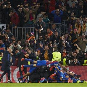Celebracio gol Barça PSG EFE