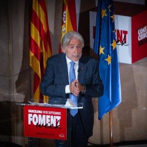 El president de Foment del Treball Josep Sánchez Llibre, intervé en el Fòrum empresarial 'Mirant a Europa'. Foto: Europa Press