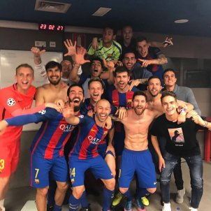 Barça remuntada PSG celebració @ivanrakitic
