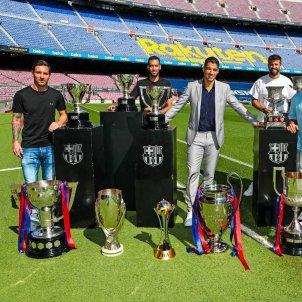 Suarez Messi Busquets Jordi Alba Pique Sergi Roberto adeu Barcelona @FCB