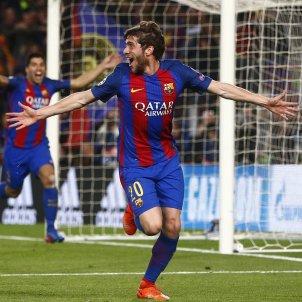 Sergi Roberto gol decisiu Barça PSG celebració champions EFE