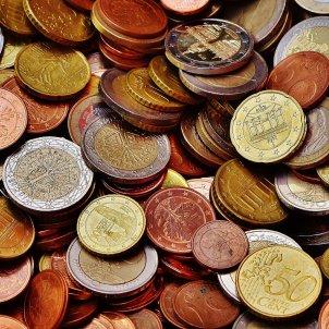 Conjunto de monedas de euro. Foto: Pixabay