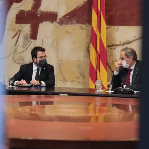 Quim Torra Pere Aragonès reunio govern inhabilitacio - Sergi Alcàzar