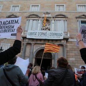 Manifestacio inhabilitacio Torra Sant Jaume - Sergi Alcàzar