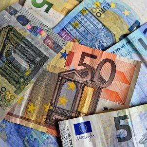 Diversos bitllets d'euro. Foto: Pixabay