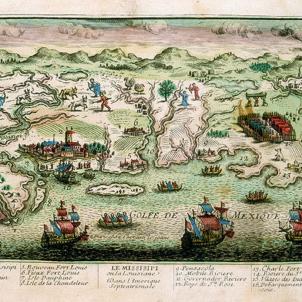 Els catalans de Nova Orleans passen a administració francesa. Gravat de Nova orleans (segle XVIII). Font The Government Center Gazette. New Orleans