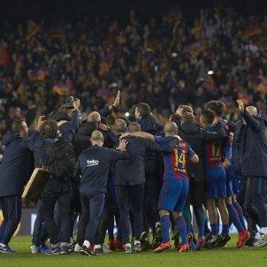 Barça PSG Champions invasió camp EFE