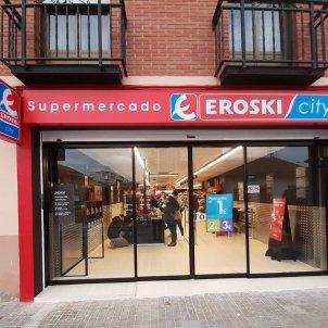 L'entrada d'un supermercat de la cadena Eroski. Foto: Europa Press