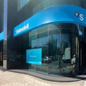 Edifici de la seu de Banc Sabadell, a Madrid. Foto: Europa Press