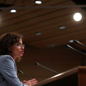 La vicepresidenta del Gobierno y ministra de hacienda, Maria Jesús Montero. Foto: Efe