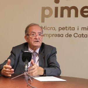 Pla mitjà del president de Pimec, Josep González. Foto: ACN