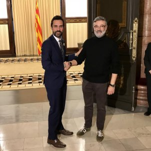 Roger Torrent Carles Riera Parlament - Europa Press