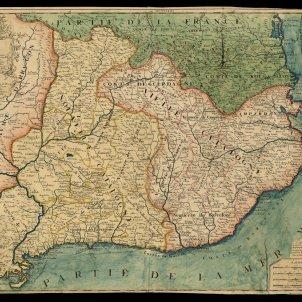 Mapa juridic Catalunya. 1694