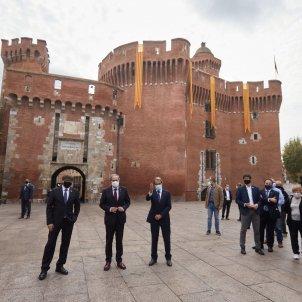 Puigdemont, Torra, Mas Castellet Perpinyà EFE