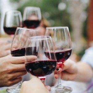 Copas de vino tinto Unsplash