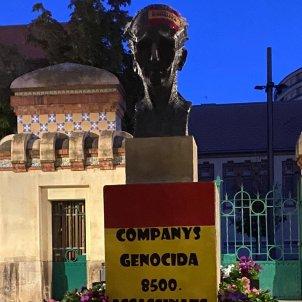 vandalisme estàtua Companys Lleida 12 octubre   ACN