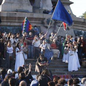 protesta anticolonialista Barcelona 12 octubre - ACN