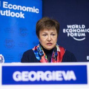 La directora gerent de Fons Monetari Internacional (FMI), la búlgara Kristalina Georgieva. Foto: Efe / Gian Ehrenzeller / Arxiu