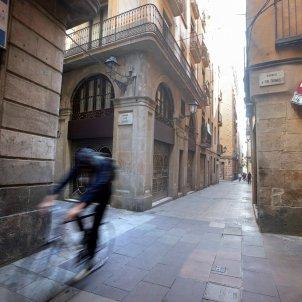 Aspecte del barri Gòtic de Barcelona, aquest dimarts. Foto: Efe