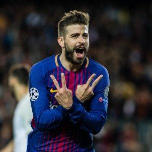 Gerard Piqué celebració rient Barça EuropaPress