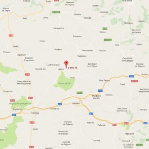 Ciclista mort Plans de Sió   Google Maps