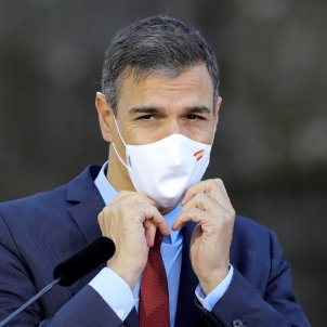 El presidente del Gobierno, Pedro Sánchez en rueda de prensa. Foto: Efe