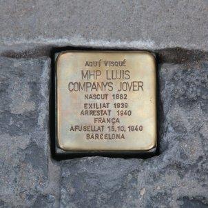 llamborda stolperstein Lluis Companys plaça Sant Jaume - Sergi Alcàzar