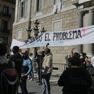 Manifestació del sector de la hostaleria per la crisi coronavirus. Foto: Maria Contreras Coll