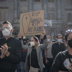 Manifestacio Sector Hosteleria pancarta -  Maria Contreras Coll