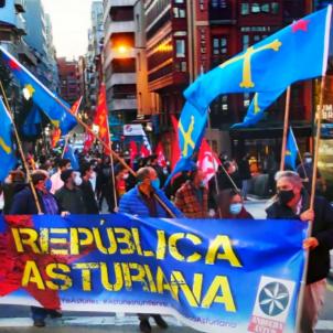 Manifestació República asturiana Andecha Astur