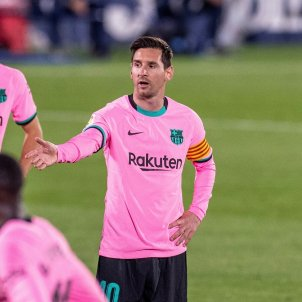 Messi protesta Barça EFE