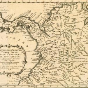 Neix Joseph de Fàbrega, llibertador de Panamà. Mapa del virregnat de Nova Granada (1776), després República de la Gran Colòmbia. Font Cartoteca de Catalunya