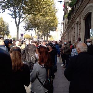 Perpinyà manifestació decapitació Samuel Paty Génération Perpignan