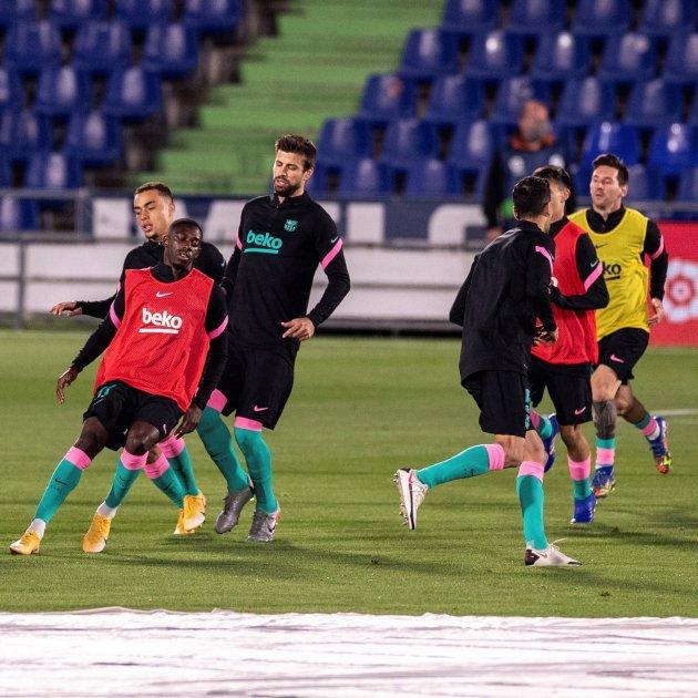De Jong Messi Dembele Pique Barca Efe