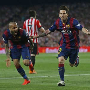 Leo Messi Dani Alves Copa