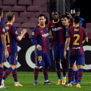 Messi De Jong Dembele Pedri Dest Barca Champions EFE