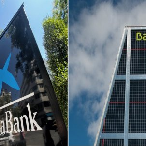 Seus dels bancs en procés de fusió, Caixabank i Bankia. Foto: Europa Press