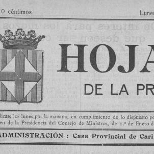 El govern de la República depura la premsa institucional catalana. Portada del primer número del Full. Font Col·legi de Periodistes de Catalunya