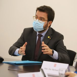 Pere Aragones reunio Govern estat alarma toc de queda - Ruben Moreno